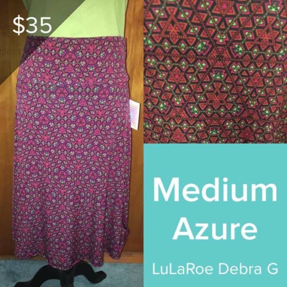 LulaRoe Azure Sz XS NEW Black Purple Green Triangle Print